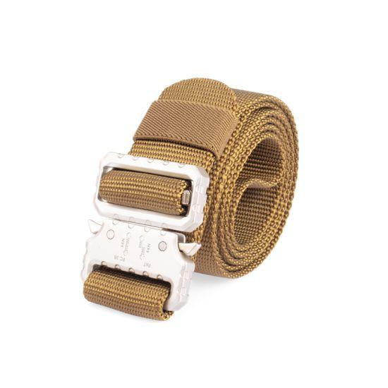Custom Men's Military Nylon Webbing Belt with Cobra Buckle
