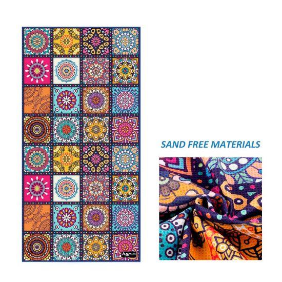 China Luxury Custom Made Digital Print Mandala Recycled Waffle