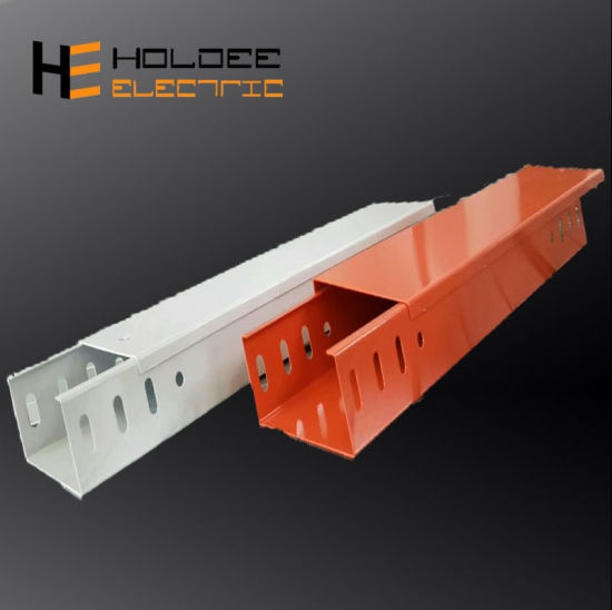 China High Quality Electrical Wire Duct Network Trough Cable Tray And Trunking Price For Cable Support System China Straight Cable Trunking Electrical Galvanized Cable Tray