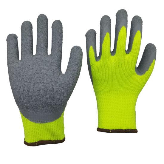 7 Gauge Fleece Liner Latex Coated Winter Work Gloves Wholesale