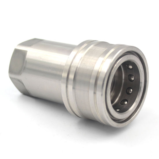 1/2 Inch BSPP ISO 7241-1A Stainless Steel Quick Release Coupling