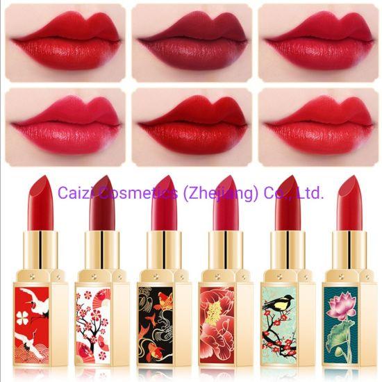 Hot Selling Cosmetics Makeup Lipstick Chinese Style Retro Red Moist Lipstick