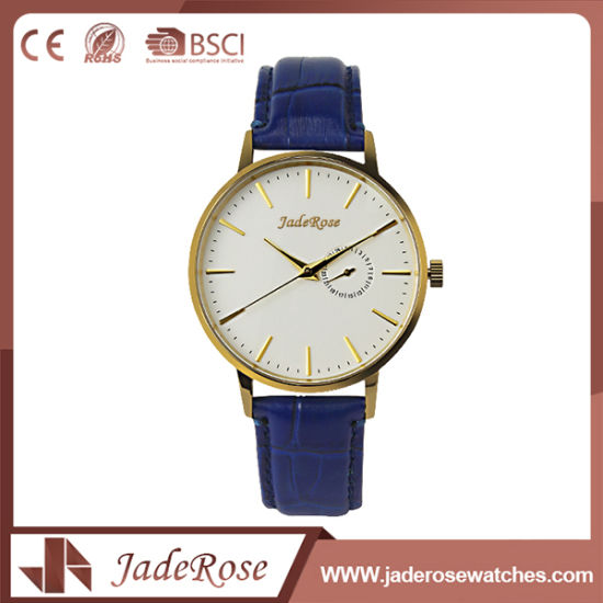 Custom Fashion Vintage Unisex Leather Quartz Watches pictures & photos