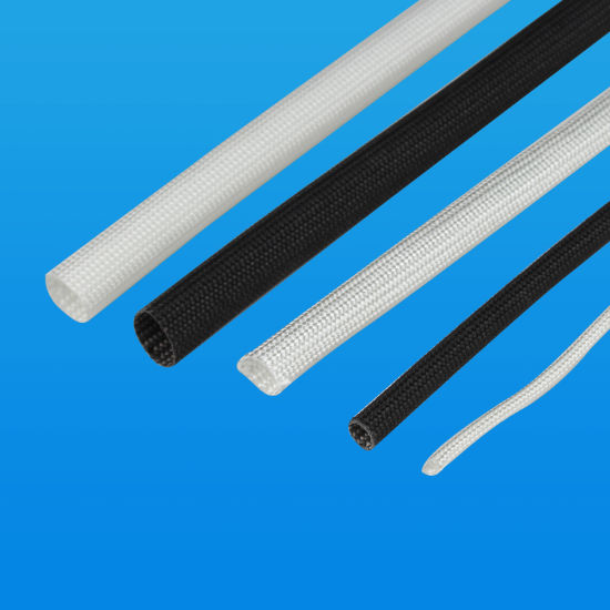 2.5kv Silicone Coated Motor Winding Material Electric Braided Fiberglass Wire Insulation Sleeves
