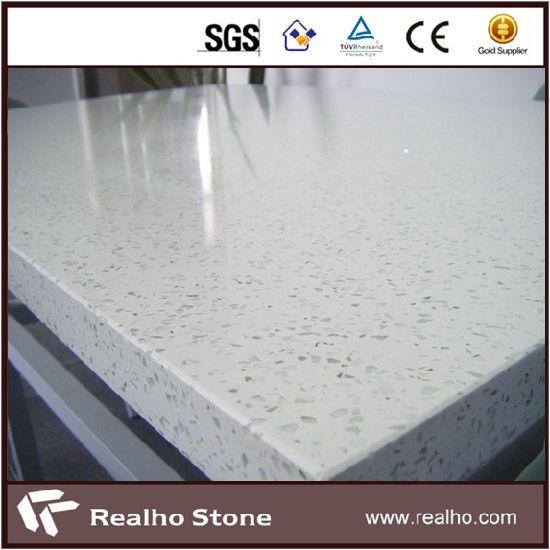 China Artifical Sparkle White Quartz Stone Kitchen Countertops And