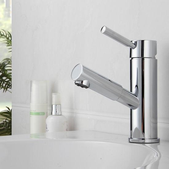 Flg Chrome Pull out Single Handle Brass Bath Faucet