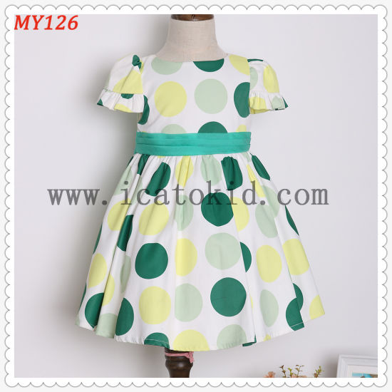 Paisley Organza Polkadot Dress for Party Girl Dress for Kid Clothes