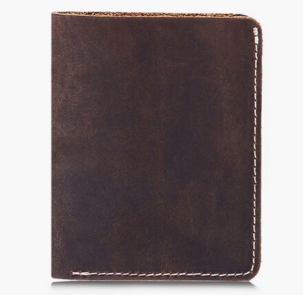 Restor Crazy Horse Simple Leather Material Men Wallet