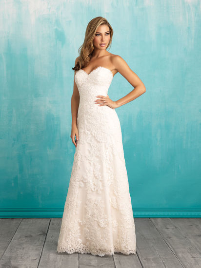 China Sweetheart Satin Ruffle Bridal Gown Princess Wedding Dress ...