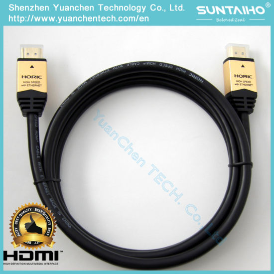 High Speed Aluminium Shell 24k Gold Plated HDMI Cable with Ethernet pictures & photos