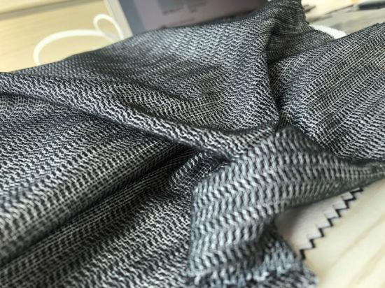 BLACK BI-STRETCH FABRIC Displays Knit Dress Light weight Knitted Material 150CM