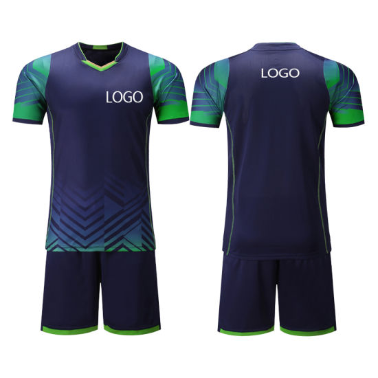 2019 New Summer High Quality Sublimation Mens Kids Soccer Jersey Suit with Your Label