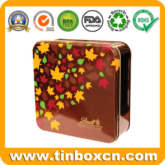 Custom Square Tin Box, Tin Can, Food Tin, Metal Tin Packaging for Candy, Chocolate, Cookie, Biscuit and Snacks pictures & photos