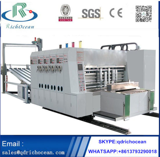 High Speed Corrugated Cardboard Flexo Printing Slotting Machine
