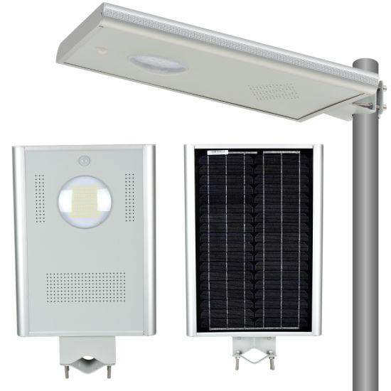 Long Period Purchase Q235 5m 6m 7m Hot DIP Galvanized Steel Pole LED Solar Street Light 20watt