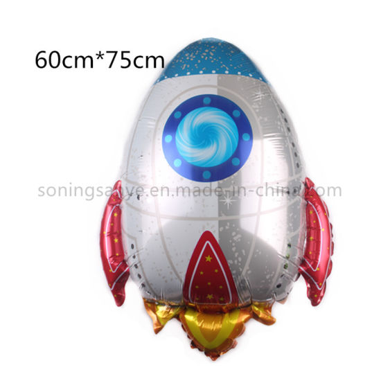 Dto0162 Space Rocket Shape Cartoon Helium Foil Balloons