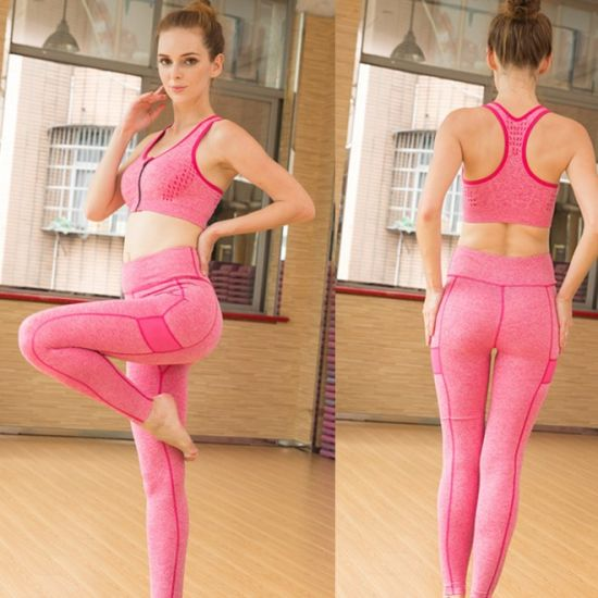 Multicolor Ladies Fitness Bra and Yoga Pants Sport Suit pictures & photos