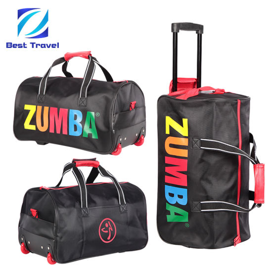 SGS Approved Manufacturer Wheeled Duffel Sport Gym Carry on Cabin Duffle Hand Shoulder Trolley Travel Luggage Bag