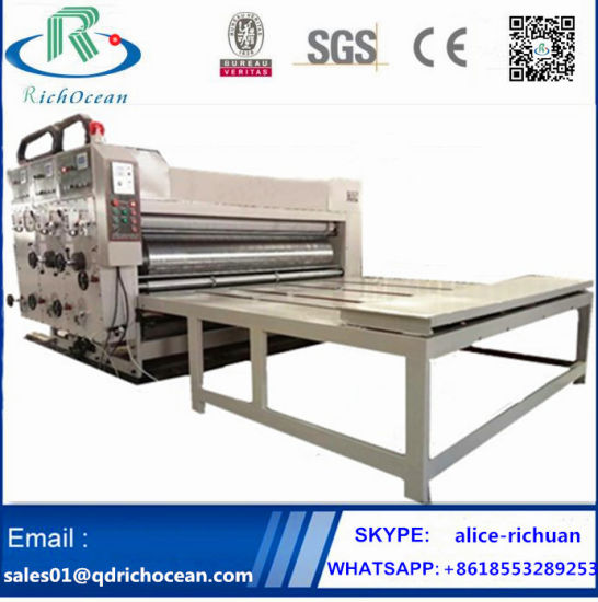Water Ink Flexographic Printing Slotting Machine for Corrugated Carton Box