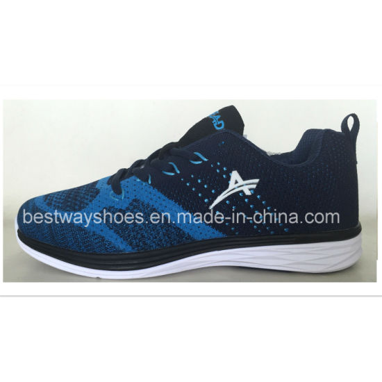 Casual Sport Shoes with Flyknit Upper Men Sneaker Athletic Shoes pictures & photos