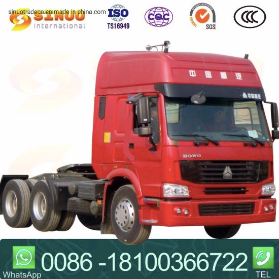 Used 371HP 6X4 Sinotruk HOWO Heavy Duty Truck Trailer Head Tractor Head 10xtyres Horse Tractor Truck for Namibia/Tanzania/Cameroon/Ethiopia