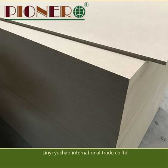 1220*2440mm E1 Glue 18 mm Plain MDF with Cheap Price in China pictures & photos