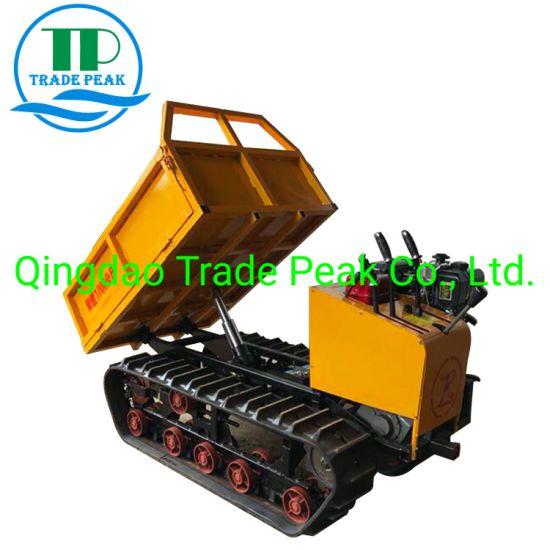 2019 Wholesale 10.8HP 1ton Crawler Mini Dumper