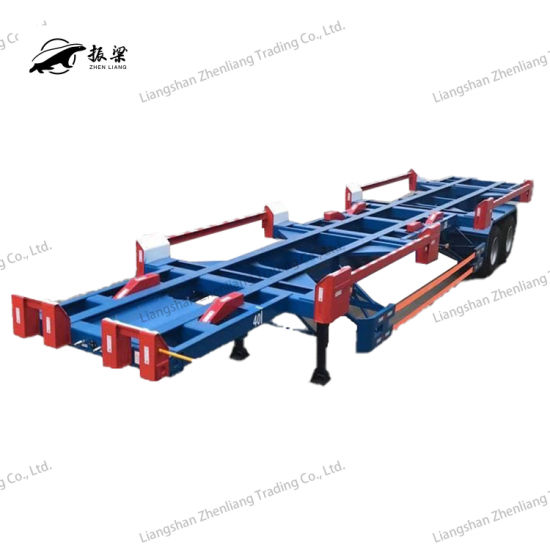 Tri-Axle Skeletal/Skeleton Container/Utility Truck Semi Trailer with Gooseneck/Special Vehicle for Port