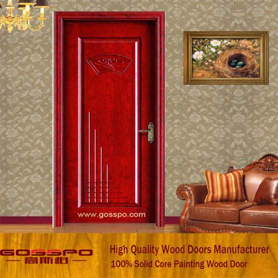 China European Style Plain Interior Solid Wood Doors Gsp2 059