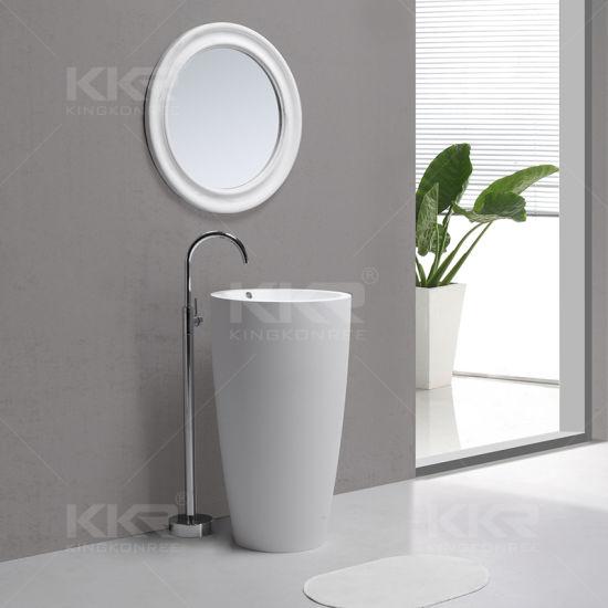 Exceptionnel Sanitaryware Solid Surface Bathroom Pedestal Hand Wash Basin (171128)