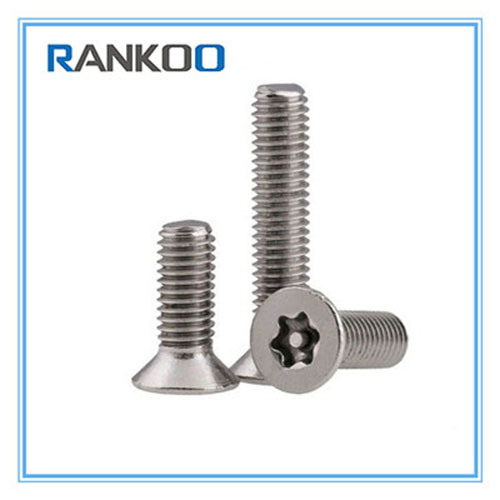 ANSI/ASME Torx Countersunk Head Security Screws with Ss 304 316 Material