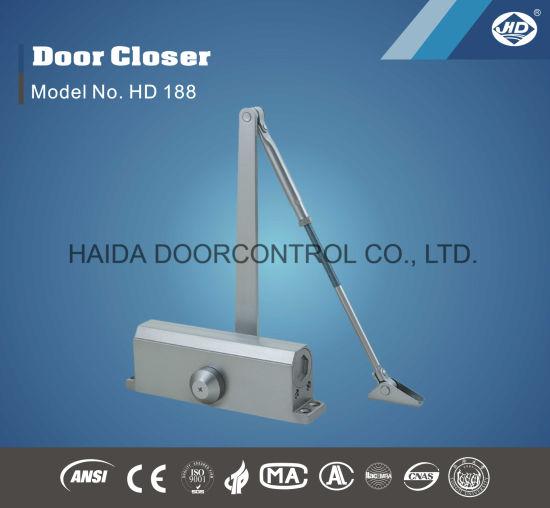 China Automatic Aluminum Interior Door Closer Opener Fire Proof