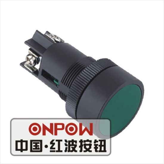 Onpow 22mm Pushbutton Switch (Simple Type) (HBY5E1-11/G, CE, CCC, CB, RoHS)