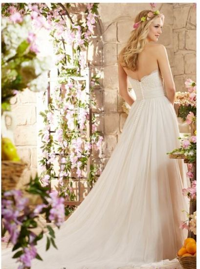 2016 A-Line Beach Bridal Wedding Dresses Wd6801 pictures & photos