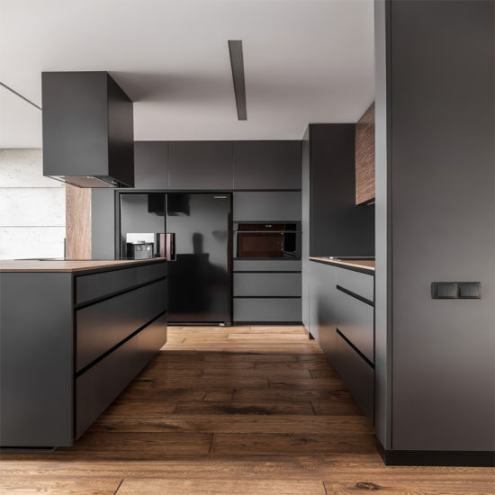 Welbom America Style L Shape Kitchen Cabinet Door pictures & photos