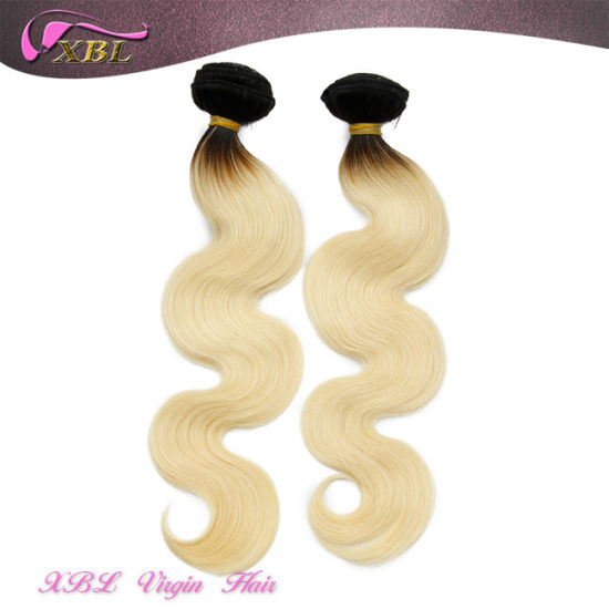 Two Tone Blonde Color Malaysian Human Hair Virgin Ombre Hair pictures & photos