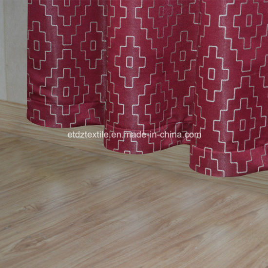 2018 Red Color Modern Design Window Curtain Fabric pictures & photos