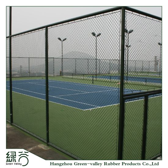 Lexible and Shock-Proof Outdoor Tennis Courts From 100% Rubber Flooring Rubber Mat