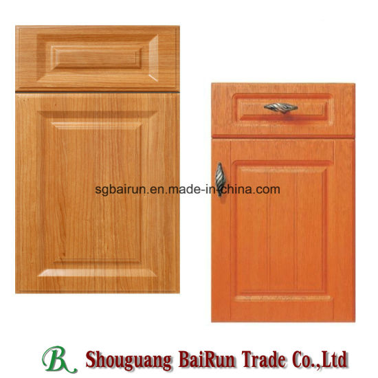 China Kitchen Furniture Part Pvc Film Mdf Kitchen Cabinet Door