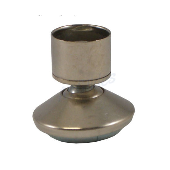 China Metal Base Swivel Glides For Round Tubing With 9 16 High