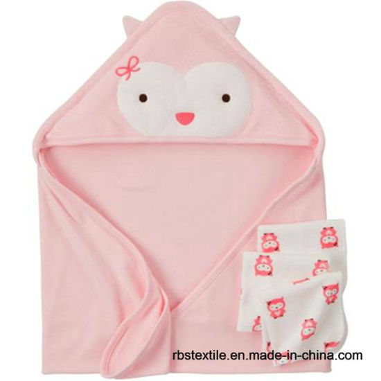Wholesale Promotional Baby Hooded Towel Set with High Quality pictures & photos