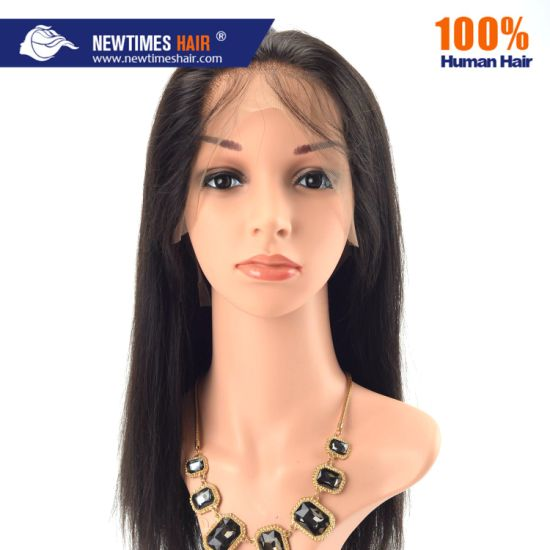 Stock for Immediate Shipment 100% Remy Human Hair Straight Brown Full Lace Wig for Lady pictures & photos