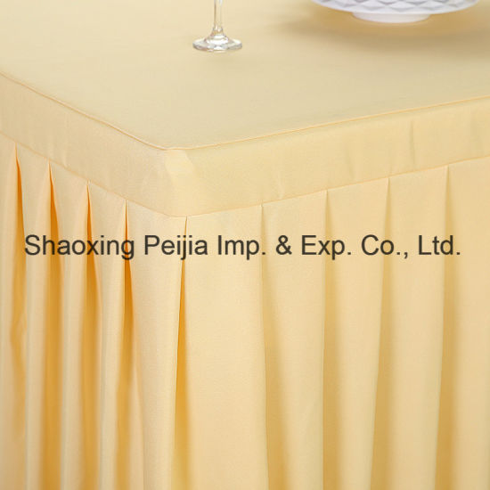 China Wholesale Price Beautiful Rectangle Skirt Table Cloth China