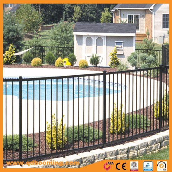 Durable Powder Coated Flat Top Pool Fence