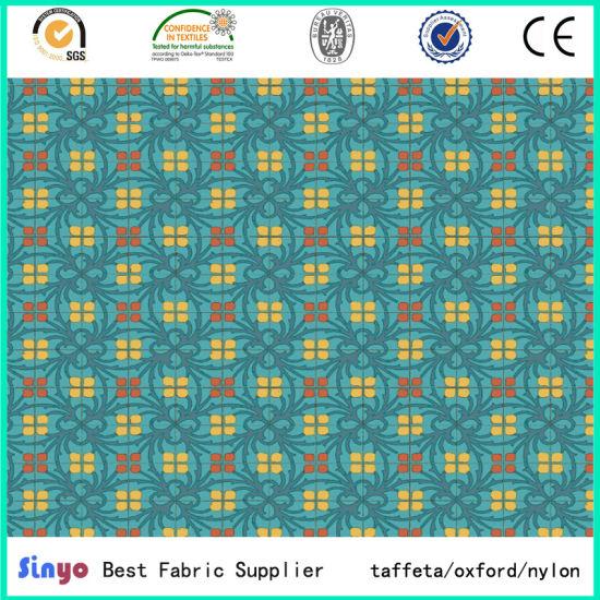 100 Percent Polyester Digital Printing Waterproof PU Fabric for Bags