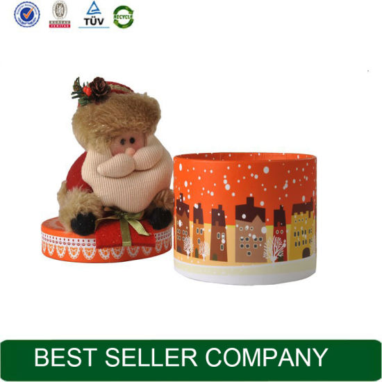 wholesale custom made high quality luxury flat pack round cylinder paper large decorative christmas gift boxes - Christmas Gift Boxes Wholesale