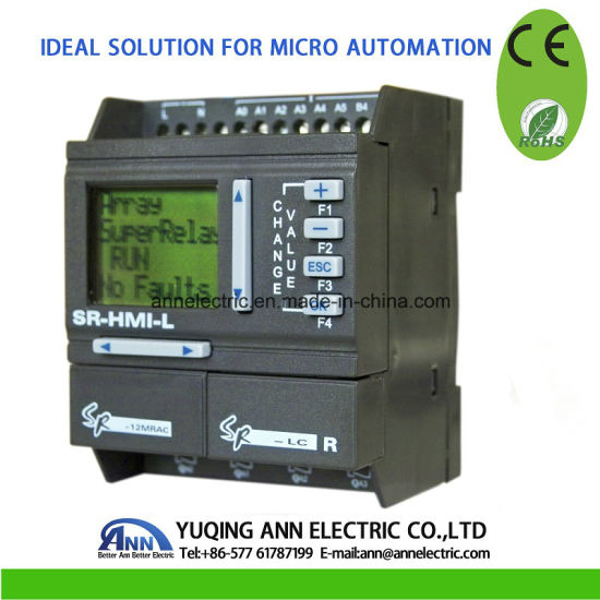 Mini PLC Sr-12mrac, AC110-220V, 8 Point AC Input, 4 Point Relay Output