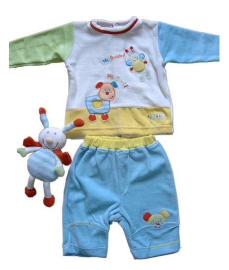 Customized 0-24m Velour Baby Clothes 2PCS Set Children's Clothes