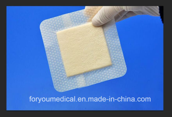 Advanced Wound Care Dressing for Border Foam Dressing with Silicone pictures & photos