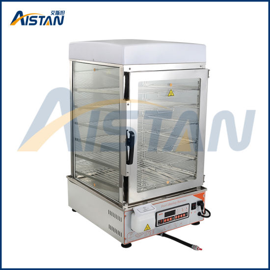 600s 6 deck digital controll electric glass commerical chinese bun